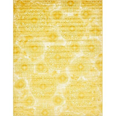 Ford Yellow Area Rug Rug Size: 9 x 12