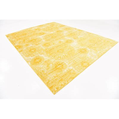 Brandt Yellow Area Rug Rug Size: Rectangle 8 x 11