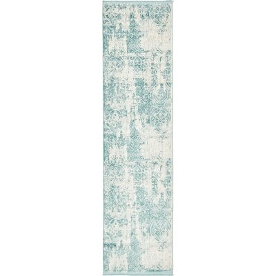 Wilton Blue Area Rug Rug Size: Runner 27 x 10