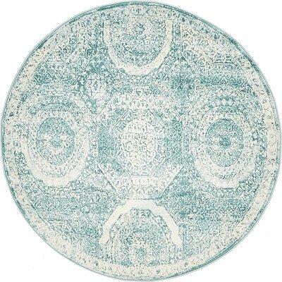 Wilton Blue Area Rug Rug Size: Round 4