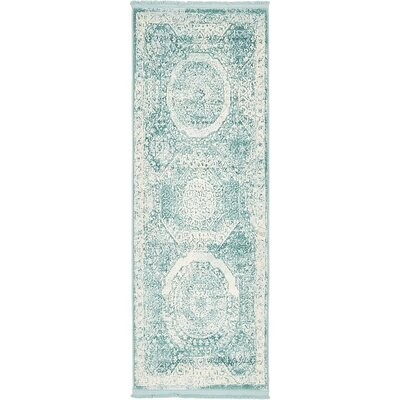Wilton Blue Area Rug Rug Size: Runner 22 x 6