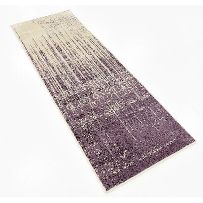 Raphael Purple Area Rug Rug Size: Runner 22 x 6