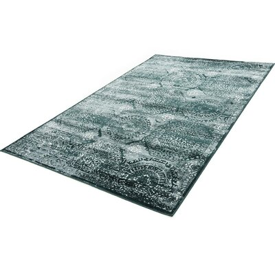 Hurst Dark Green Area Rug Rug Size: Rectangle 5 x 8