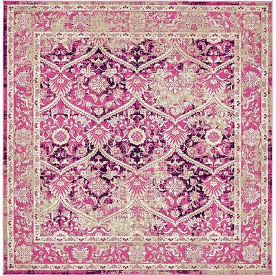 Hurst Lilac Area Rug Rug Size: Square 6