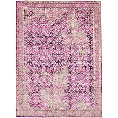 Hurst Lilac Area Rug Rug Size: Rectangle 102 x 135