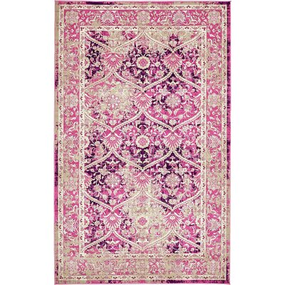 Hurst Lilac Area Rug Rug Size: 5 x 8