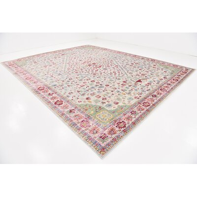 Center Red Area Rug Rug Size: 13 x 165