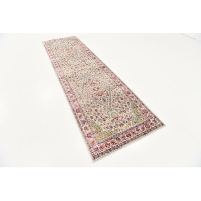 Carrico Red Area Rug Rug Size: Runner 27 x 910