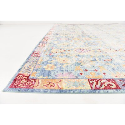 Carrico Oriental Blue Area Rug Rug Size: Rectangle 8 x 10