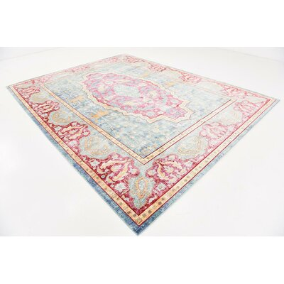 Center Navy Blue Area Rug Rug Size: 9 x 12