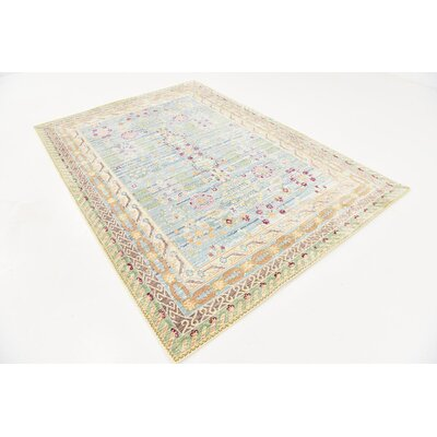 Carrico Blue Area Rug Rug Size: Rectangle 6 x 9