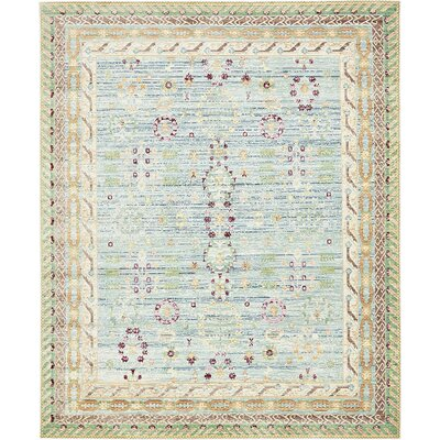 Center Blue Area Rug Rug Size: 8 x 10