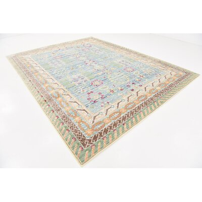 Carrico Blue Area Rug Rug Size: Rectangle 9 x 12