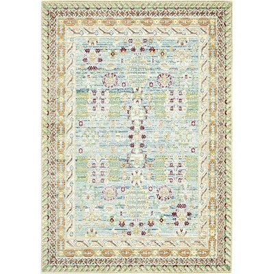 Carrico Blue Area Rug Rug Size: Rectangle 8 x 10