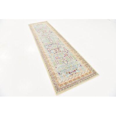 Carrico Blue Area Rug Rug Size: Runner 27 x 91