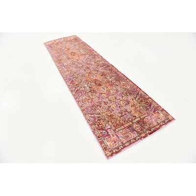 Center Red Area Rug Rug Size: Runner 27 x 910