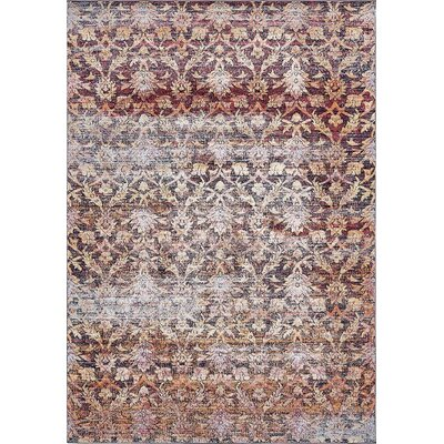 Clemon Rust Red Area Rug Rug Size: Rectangle 106 x 165