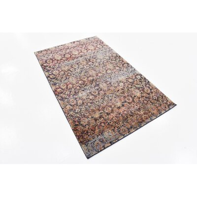 Pierre Rust Red Area Rug Rug Size: 33 x 53