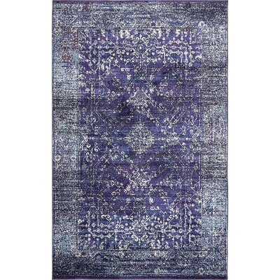 Bently Blue Area Rug Rug Size: 5 x 8