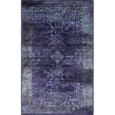 Oliver Blue Area Rug Rug Size: 106 x 165