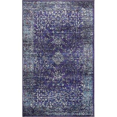 Oliver Blue Area Rug Rug Size: 33 x 53