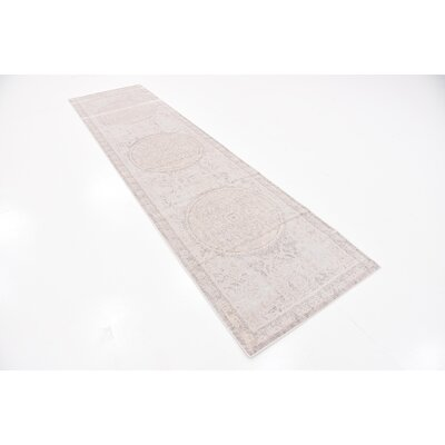 Pellham Gray Area Rug Rug Size: Runner 27 x 10