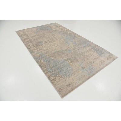 Pellham Gray Area Rug Rug Size: 5 x 8