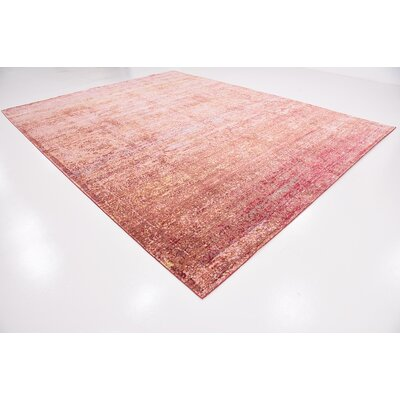 Center Red Area Rug Rug Size: Rectangle 10 x 13