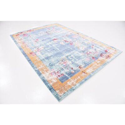Center Blue Area Rug Rug Size: 6 x 9