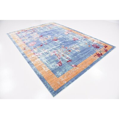 Center Blue Area Rug Rug Size: Rectangle 7 x 910