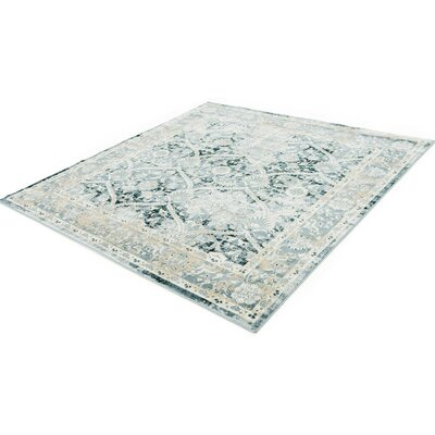 Sullivan Dark Blue Area Rug Rug Size: Square 6