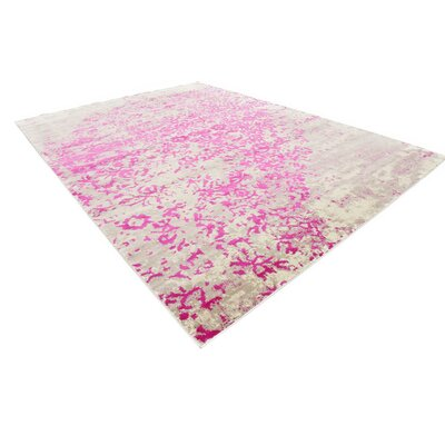 Francis Pink Area Rug Rug Size: Rectangle 102 x 135