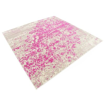 Francis Pink Area Rug Rug Size: Square 6