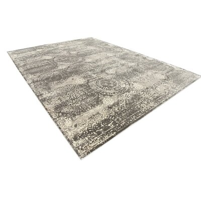 Hurst Gray Area Rug Rug Size: Rectangle 102 x 135