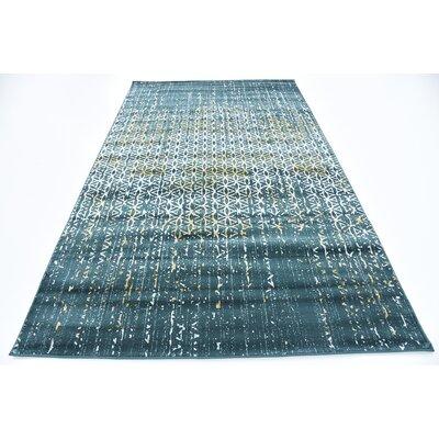 Jay Teal Area Rug Rug Size: Rectangle 5 x 8