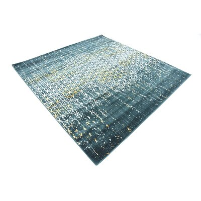Jay Teal Area Rug Rug Size: Square 6