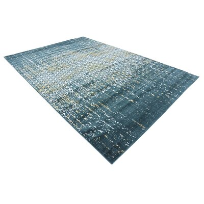 Jay Teal Area Rug Rug Size: Rectangle 8 x 11