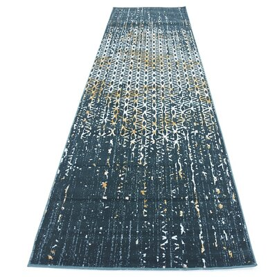 Jay Teal Area Rug Rug Size: Runner 3 x 10