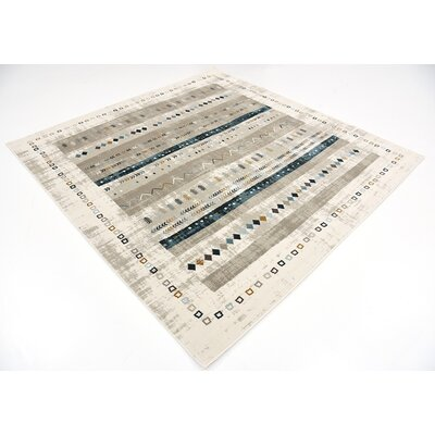 Francis Beige Area Rug Rug Size: Square 6