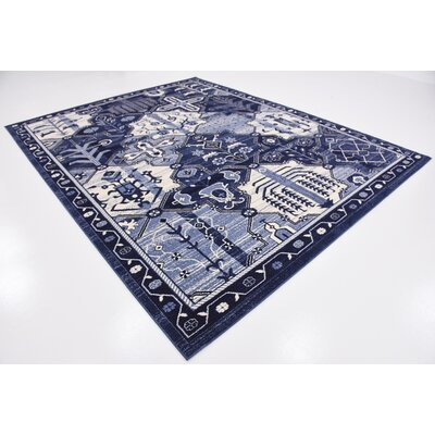 Harry Blue Area Rug Rug Size: 8 x 10