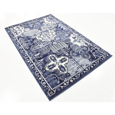 Harry Blue Area Rug Rug Size: 4 x 6