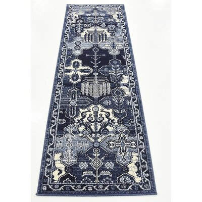 Harry Blue Area Rug Rug Size: Runner 2 x 6