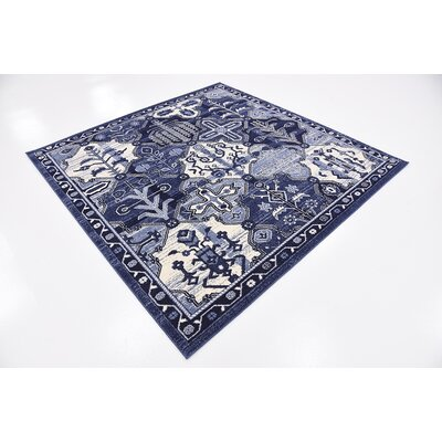 Harry Blue Area Rug Rug Size: Square 6