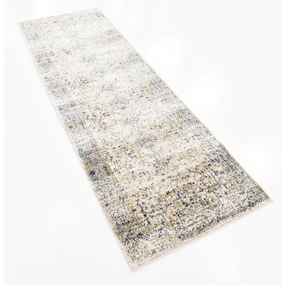 Bently Cream Area Rug Rug Size: Runner 22 x 67