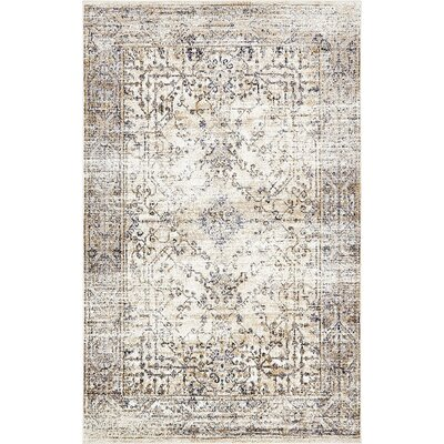 Bently Cream Area Rug Rug Size: 5 x 8