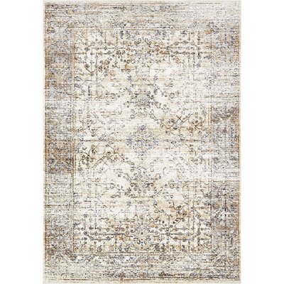 Bently Cream Area Rug Rug Size: 7 x 10