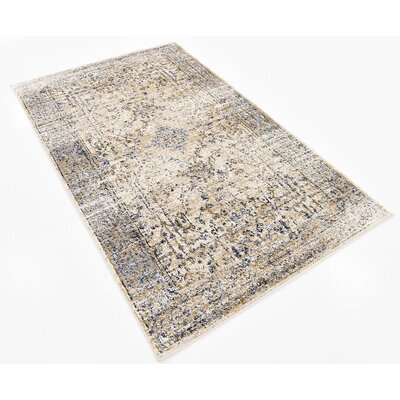 Bently Cream Area Rug Rug Size: 33 x 53
