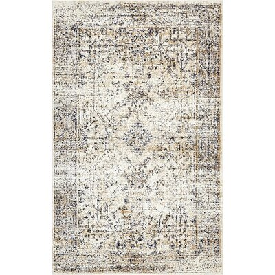 Berthoud Cream Area Rug Rug Size: Rectangle 33 x 53