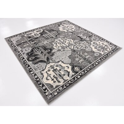 Harry Gray Area Rug Rug Size: Square 6