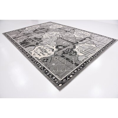 Harry Gray Area Rug Rug Size: 10 x 14